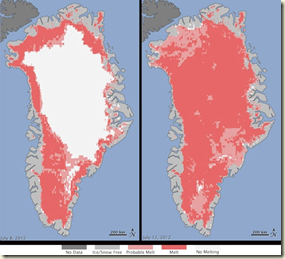 greenland sudden surface melt